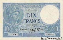 10 Francs MINERVE modifié FRANCE  1940 F.07.20 TTB+