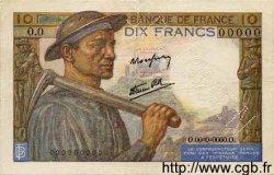 10 Francs MINEUR FRANCE  1941 F.08.00 SUP