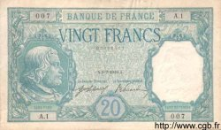 20 Francs BAYARD FRANCE  1916 F.11.01 SPL+