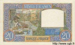 20 Francs SCIENCE ET TRAVAIL FRANCE  1939 F.12.01 TTB+ à SUP