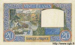 20 Francs SCIENCE ET TRAVAIL FRANCE  1940 F.12.02 SUP