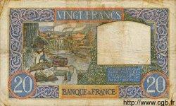 20 Francs SCIENCE ET TRAVAIL FRANCE  1940 F.12.03 TB