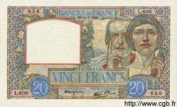 20 Francs SCIENCE ET TRAVAIL FRANCE  1940 F.12.04 SUP+