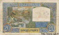 20 Francs SCIENCE ET TRAVAIL FRANCE  1940 F.12.05 B+