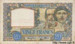 20 Francs SCIENCE ET TRAVAIL FRANCE  1940 F.12.09 TB