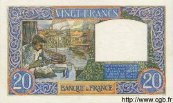 20 Francs SCIENCE ET TRAVAIL FRANCE  1941 F.12.12 SPL