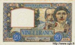 20 Francs SCIENCE ET TRAVAIL FRANCE  1941 F.12.17 SUP+