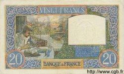 20 Francs SCIENCE ET TRAVAIL FRANCE  1941 F.12.18 SUP