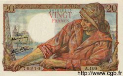 20 Francs PÊCHEUR FRANCE  1944 F.13.08 NEUF
