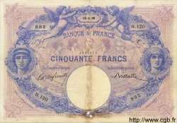 50 Francs BLEU ET ROSE FRANCE  1890 F.14.02 TB+