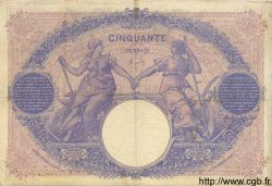 50 Francs BLEU ET ROSE FRANCE  1900 F.14.12 TB+ à TTB