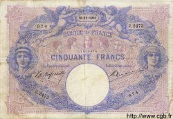 50 Francs BLEU ET ROSE FRANCE  1903 F.14.15 TB