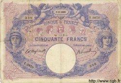 50 Francs BLEU ET ROSE FRANCE  1906 F.14.18 TB