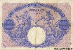 50 Francs BLEU ET ROSE FRANCE  1907 F.14.19 TB