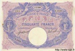 50 Francs BLEU ET ROSE FRANCE  1909 F.14.22 TTB+