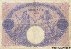 50 Francs BLEU ET ROSE FRANCE  1911 F.14.24 pr.TTB