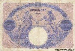 50 Francs BLEU ET ROSE FRANCE  1913 F.14.26 pr.TTB