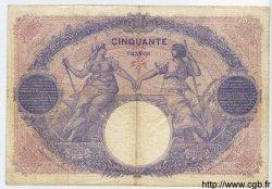 50 Francs BLEU ET ROSE FRANCE  1918 F.14.31 TB
