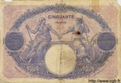 50 Francs BLEU ET ROSE FRANCE  1920 F.14.33 B+