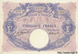50 Francs BLEU ET ROSE FRANCE  1922 F.14.35 TTB+ à SUP