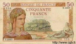 50 Francs CÉRÈS FRANCE  1935 F.17.17