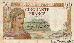 50 Francs CÉRÈS FRANCE  1935 F.17.19 TB
