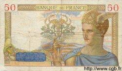 50 Francs CÉRÈS FRANCE  1936 F.17.31 pr.TTB