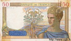 50 Francs CÉRÈS modifié FRANCE  1939 F.18.36 TB+