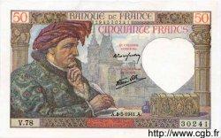 50 Francs JACQUES CŒUR FRANCE  1941 F.19.10 pr.NEUF