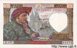 50 Francs JACQUES CŒUR FRANCE  1941 F.19.14 NEUF