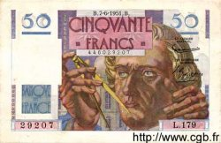 50 Francs LE VERRIER FRANCE  1951 F.20.18 SPL
