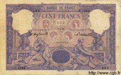 100 Francs BLEU ET ROSE FRANCE  1894 F.21.07 TB