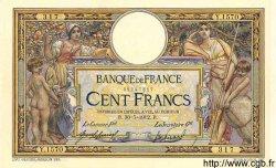 100 Francs LUC OLIVIER MERSON sans LOM FRANCE  1912 F.23.04 SUP