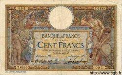 100 Francs LUC OLIVIER MERSON sans LOM FRANCE  1920 F.23.12 TB
