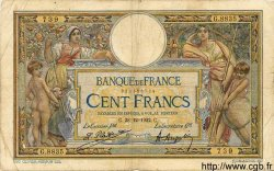 100 Francs LUC OLIVIER MERSON sans LOM FRANCE  1922 F.23.15 TB