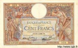 100 Francs LUC OLIVIER MERSON type modifié FRANCE  1938 F.25.09 TTB+