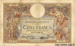 100 Francs LUC OLIVIER MERSON type modifié FRANCE  1938 F.25.11 pr.TB