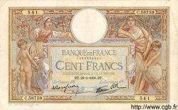 100 Francs LUC OLIVIER MERSON type modifié FRANCE  1938 F.25.16 TB+