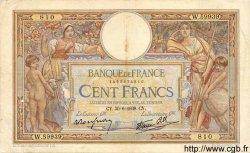 100 Francs LUC OLIVIER MERSON type modifié FRANCE  1938 F.25.24 TTB