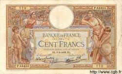 100 Francs LUC OLIVIER MERSON type modifié FRANCE  1939 F.25.42 TTB