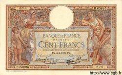 100 Francs LUC OLIVIER MERSON type modifié FRANCE  1939 F.25.45 pr.SPL