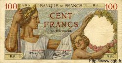 100 Francs SULLY FRANCE  1939 F.26.01 TB+