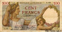 100 Francs SULLY FRANCE  1939 F.26.02 TB à TTB