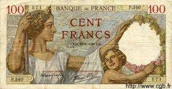 100 Francs SULLY FRANCE  1939 F.26.04 TB