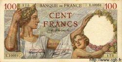 100 Francs SULLY FRANCE  1940 F.26.27 TTB