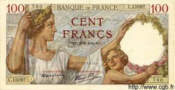 100 Francs SULLY FRANCE  1940 F.26.38 SPL