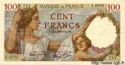 100 Francs SULLY FRANCE  1941 F.26.46 SUP