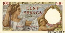 100 Francs SULLY FRANCE  1941 F.26.49 SUP