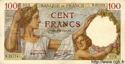100 Francs SULLY FRANCE  1941 F.26.53 SUP+