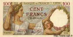 100 Francs SULLY FRANCE  1941 F.26.54 SUP